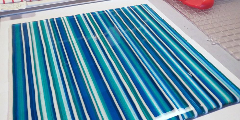 A Strip Construction Glass Fusing Part Sheet