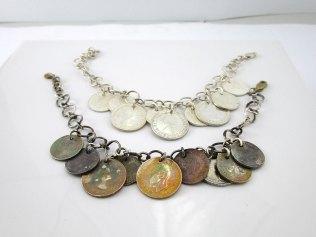 Silve Coin Bracelets
