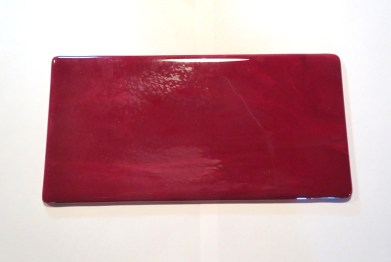 Back of Fused Glass Platter
