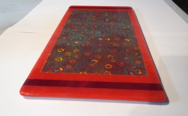 Red Fused Glass Platter