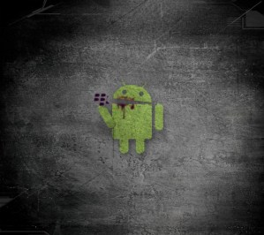 android eating blackberry