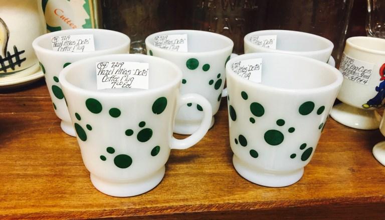 punch mugs with polka dots