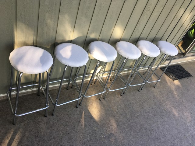 6 refinished stools