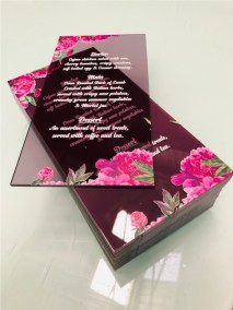 Acrylic Wedding menus