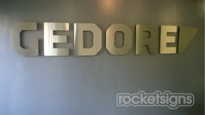 Gedore tools Stainless steel sign