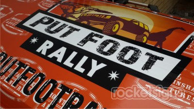 putfoot rally trailer wrap