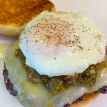 Roswell Burger with Fried Egg