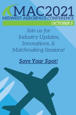 MAC2021 - Blue graphic with Plane and Join Us Oct 5 text and MAC2021 logo