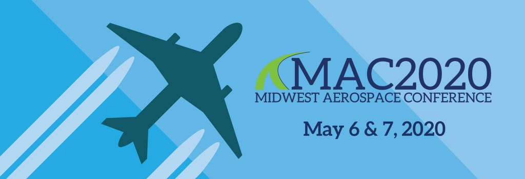 MAC2020 Header with plane, contrails, a blue background, and May 6 and 7 event dates.