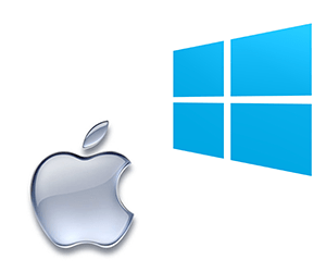 Macintosh Logo and Windows Logo