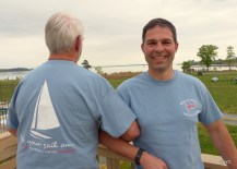Tom and Joel sporting RHYC 2015 Regatta T shirt