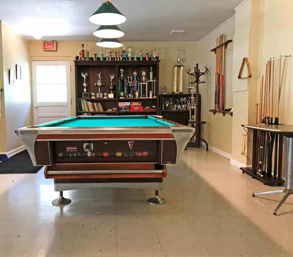 Clubhouse Pool Table & Trophies