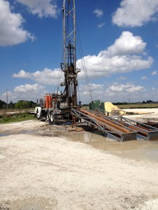 Core drilling rig - Photo by Sandie Will