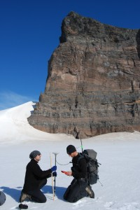 Fieldwork in Antarctica. Copyright Neil Glasser