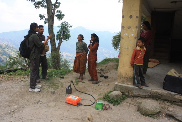 Field survey in Nepal after the April 25, 2015 Gorkha earthquake. Photo source: Revathy Parameswaran