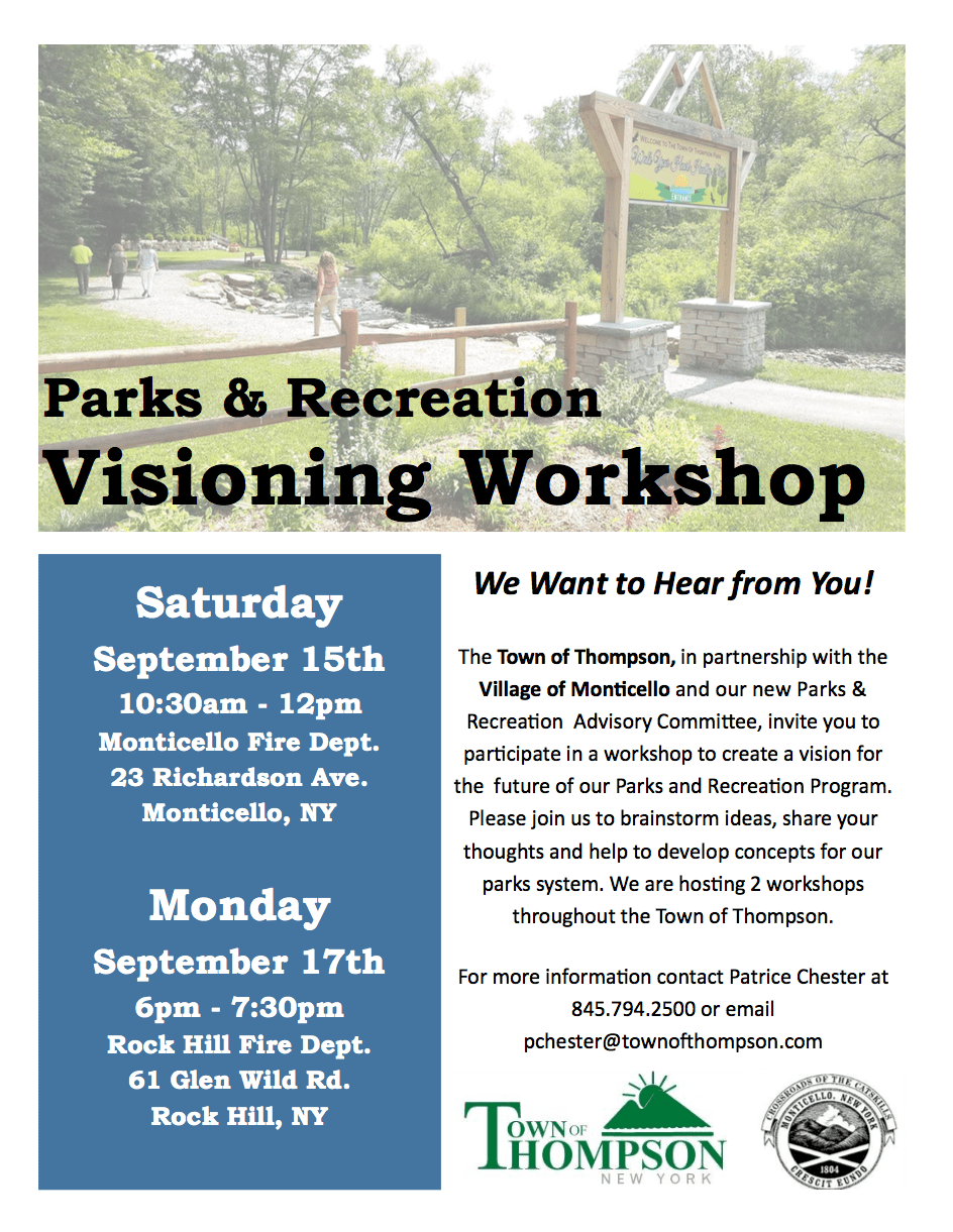 Parks Workshop Flyer