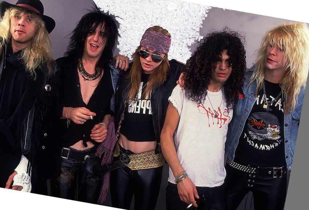Guns N' Roses в 1987-м (фото)