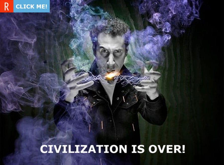 Серж Танкян думает, что цивилизации пришел конец (картинка)