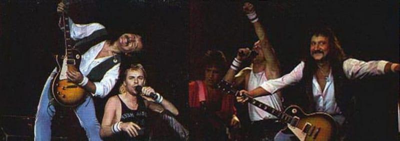 Uriah Heep выступают для своих фанатов в Москве в 1987-м (фото)