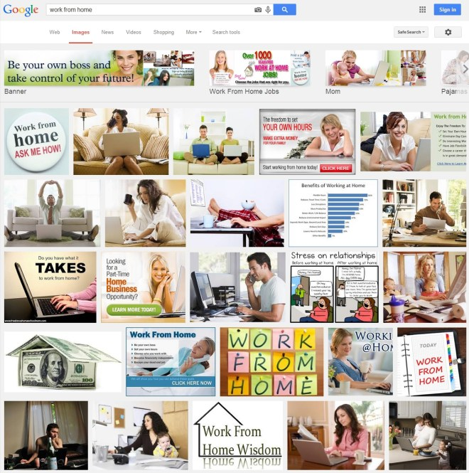 Work From Home Image Search