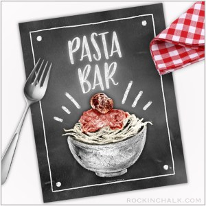 Printable Food Station Signs for Instant Download
