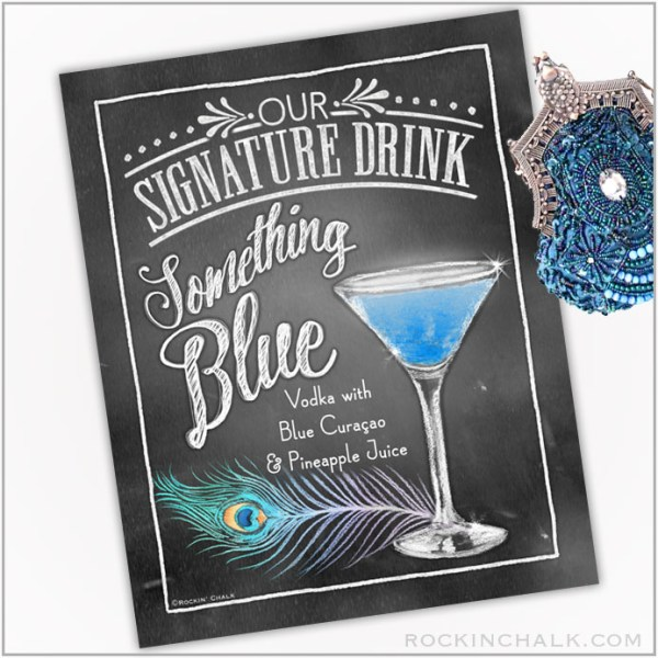 Something Blue Feather Martini