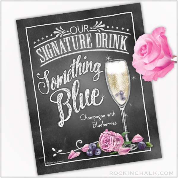 Something Blue Champagne with Blueberries
