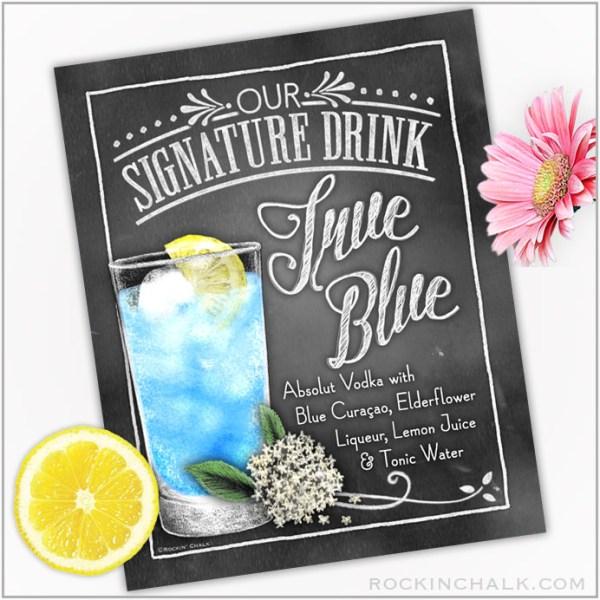 True Blue Wedding Cocktail