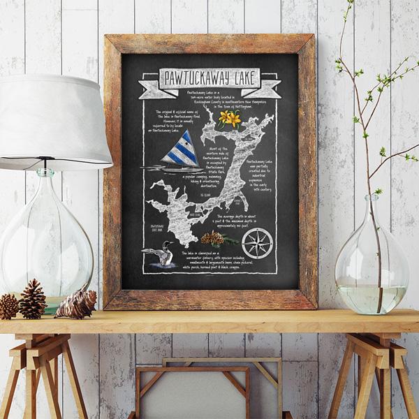 Pawtuckaway Lake Map