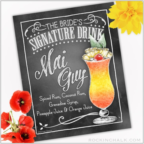 Mai Guy Cocktail Sign