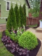 Awesome Fence With Evergreen Plants Landscaping Ideas 80
