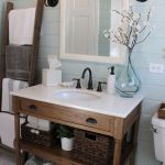 Rustic farmhouse style bathroom design ideas 36