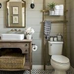 Rustic farmhouse style bathroom design ideas 56