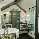 Rustic farmhouse style bathroom design ideas 61