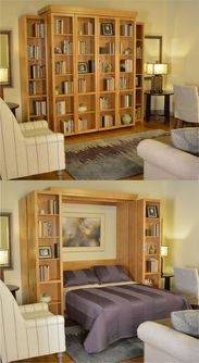 Saving space with creative folding bed ideas 50