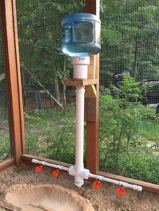 Chicken feeder from pvc 7