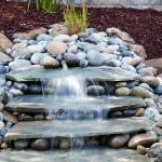 Make a mini waterfall in the garden 12