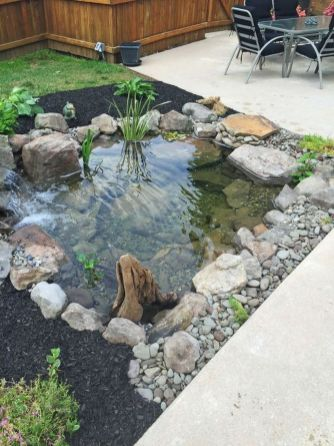 Make a mini waterfall in the garden 19