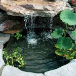Make a mini waterfall in the garden 3