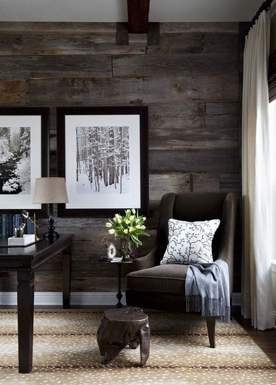 Artistic Pallet, Peel and Stick Wood Wall Design and Decorations 6