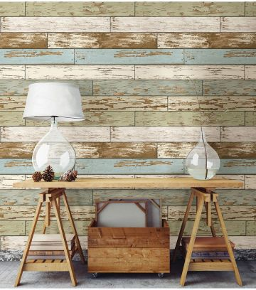 Artistic Pallet, Peel and Stick Wood Wall Design and Decorations 56