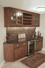 Corner bar cabinet for coffe and wine places 14