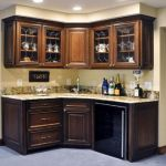 Corner bar cabinet for coffe and wine places 18