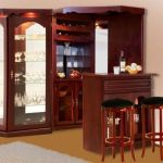 Corner bar cabinet for coffe and wine places 32