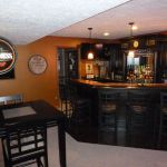 Corner bar cabinet for coffe and wine places 36