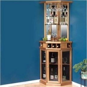 Corner bar cabinet for coffe and wine places 41