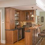 Corner bar cabinet for coffe and wine places 47