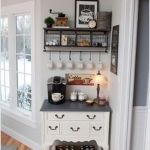 Corner bar cabinet for coffe and wine places 52