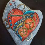 Creative diy painting rock for valentine decoration ideas 15