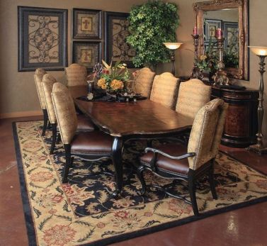 Glorious and Luxury Western Dining Room Design 48